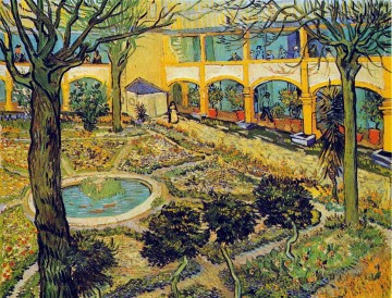 The Courtyard of the Hospital in Arles Vincent van Gogh Oil Paintings