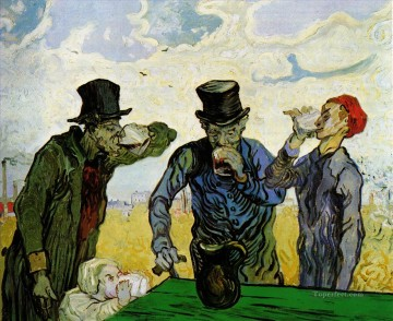 Vincent Van Gogh Painting - The Drinkers after Daumier Vincent van Gogh