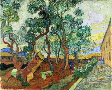 Vincent Van Gogh Painting - The Garden of St Paul s Hospital at St Remy Vincent van Gogh