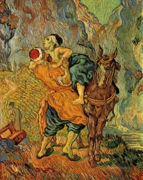 Vincent Van Gogh Painting - The Good Samaritan after Delacroix Vincent van Gogh