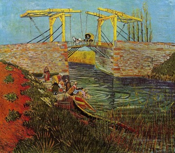 The Langlois Bridge at Arles 3 Vincent van Gogh Oil Paintings