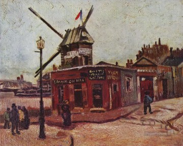 Vincent Van Gogh Painting - The Moulin de la Galette Vincent van Gogh