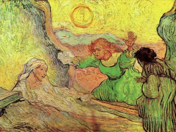 Vincent Van Gogh Painting - The Raising of Lazarus after Rembrandt Vincent van Gogh