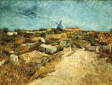 Gogh Canvas - Vegetable Gardens in Montmartre 3 Vincent van Gogh