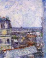 View from Vincent s room in the Rue Lepic Vincent van Gogh