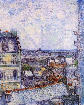 View from Vincent s room in the Rue Lepic Vincent van Gogh Oil Paintings