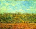 Wheat Field with a Lark Vincent van Gogh