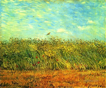 Wheat Field with a Lark Vincent van Gogh Oil Paintings