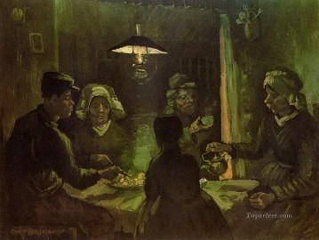 The Potato Eaters green Vincent van Gogh Oil Paintings