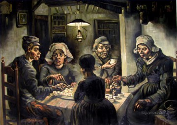 The Potato Eaters grey Vincent van Gogh Oil Paintings