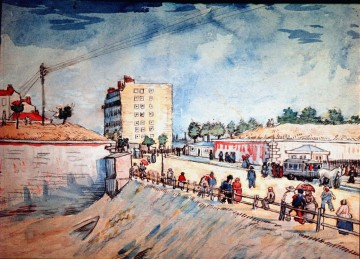 Gate in the Paris Ramparts Vincent van Gogh Oil Paintings