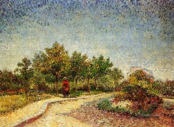 Lane in Voyer d Argenson Park at Asnieres Vincent van Gogh Oil Paintings