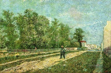Vincent Van Gogh Painting - Man with Spade in a Suburb of Paris Vincent van Gogh