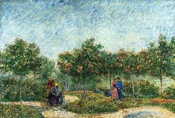 vincent van gogh Painting - The Voyer d Argenson Park in Asnieres Vincent van Gogh