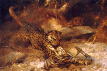 Arthur Wardle Painting - The Attack Arthur Wardle