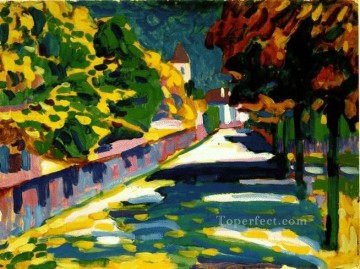 abstract Oil Painting - Autumn in Bavaria Expressionism abstract art Wassily Kandinsky