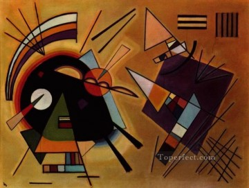 abstract Oil Painting - Black and Violet Expressionism abstract art Wassily Kandinsky