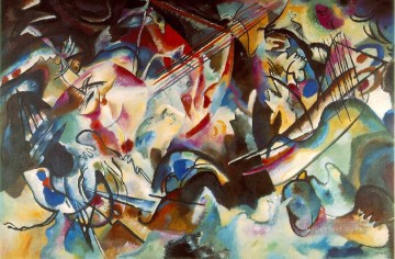 abstract Oil Painting - Composition VI Expressionism abstract art Wassily Kandinsky