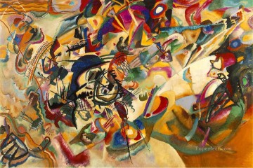 abstract Painting - Composition VII Expressionism abstract art Wassily Kandinsky