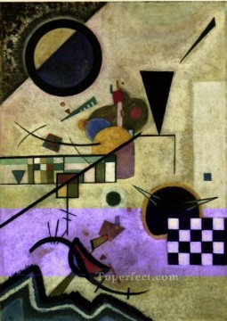 abstract Painting - Contrasting Sounds Expressionism abstract art Wassily Kandinsky