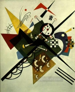 Abstract Canvas - On White II Expressionism abstract art Wassily Kandinsky