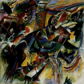 abstract Oil Painting - Ravine Improvisation Expressionism abstract art Wassily Kandinsky