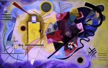 abstract Painting - Yellow Red Blue Expressionism abstract art Wassily Kandinsky