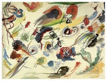 Abstract Canvas - First abstract watercolor Wassily Kandinsky