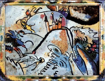 painting Oil Painting - Glass Painting with the Sun Small Pleasures Wassily Kandinsky