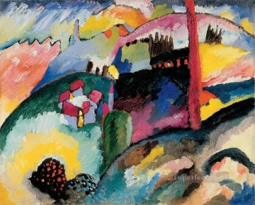 lan - Landscape with factory chimney Wassily Kandinsky