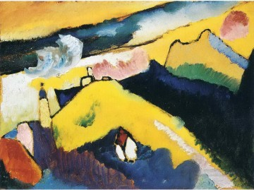 Wassily Kandinsky Painting - Mountain landscape with church Wassily Kandinsky