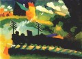 Murnau view with railway and castle Wassily Kandinsky
