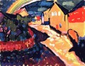 Murnau with rainbow Wassily Kandinsky