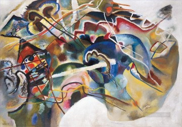 Painting Art Painting - Painting with White Border Wassily Kandinsky