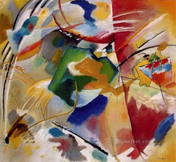 painting Oil Painting - Painting with green center Wassily Kandinsky