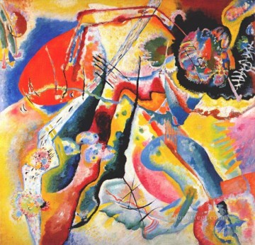 Painting Art Painting - Painting with red spot Wassily Kandinsky