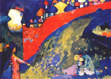 Red Wall destiny Wassily Kandinsky Oil Paintings