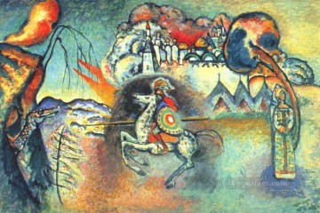 dragon Painting - St George and the dragon Wassily Kandinsky