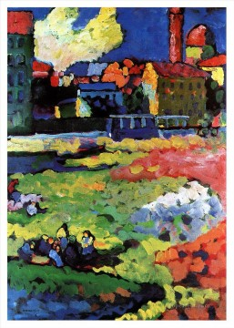 Wassily Kandinsky Painting - Munich Schwabing with the church of St Ursula Wassily Kandinsky