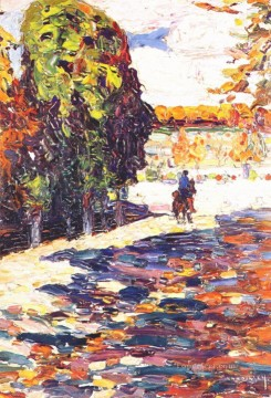 horse - Park of St Cloud with horseman Wassily Kandinsky