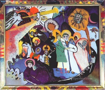 Wassily Kandinsky Painting - All Saints day I Wassily Kandinsky