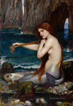 mermaid Painting - A Mermaid Greek female John William Waterhouse