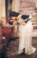 At the Shrine Greek female John William Waterhouse