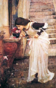 william art painting - At the Shrine Greek female John William Waterhouse