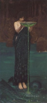 female Works - Circe Invidiosa Greek female John William Waterhouse