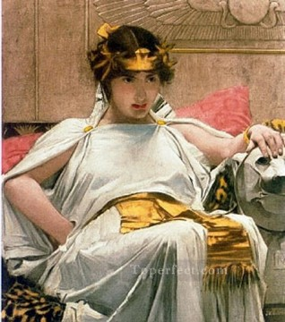 william art painting - Cleopatra JW Greek female John William Waterhouse