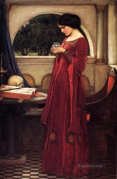 william art painting - Crystal Ball Greek female John William Waterhouse