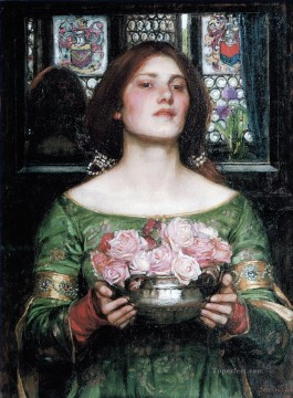 Rose Art - Gather ye rosebuds Greek female John William Waterhouse