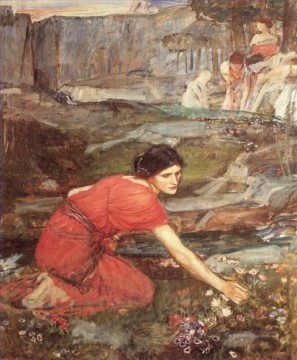 Maid Works - Maidens picking study Greek female John William Waterhouse