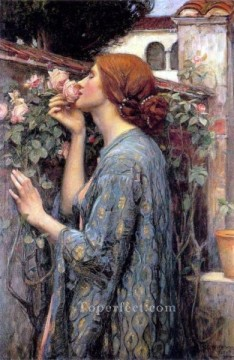 rose roses Painting - My Sweet Rose Greek John William Waterhouse